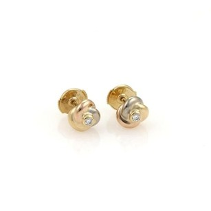 Cartier Cartier Trinity Diamond 18k Tri-color Gold Love Knot Stud Earrings