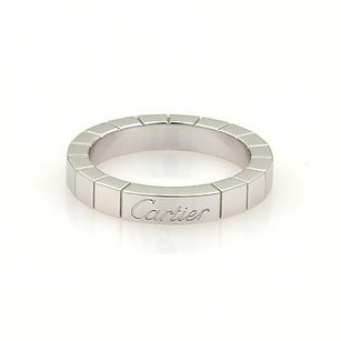 Cartier Cartier Lanier 18k White Gold 3mm Band Ring Eu 47-us