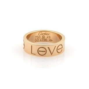 Cartier Cartier Love 18k Rose Gold 5.5mm Wide Band Ring 49- Wcert.