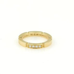 Cartier Cartier Maillon Panthere 18k Y Gold Diamond Wedding Band Ring Eu47-