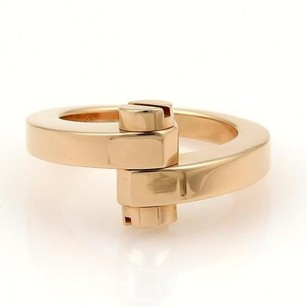 Cartier Cartier Menotte 18k Rose Gold Screw Top Bypass Ring Eu 54-us