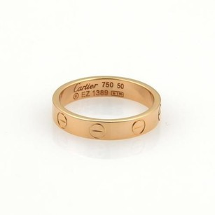 Cartier Cartier Mini Love 18k Rose Gold 3.5mm Ring Band Eu 50-us 5.25
