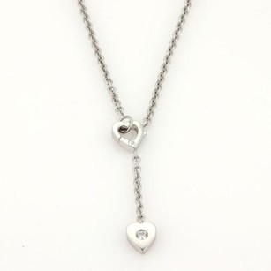 Cartier Cartier Mon Amour Diamond 18k White Gold Hearts Lariat Necklace