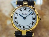 Cartier Cartier Must De Cartier Luxury Swiss Made 925 Silver Ladies Watch C 1990 J726