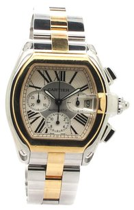 Cartier Cartier Roadster Two-Tone 18kt Yellow Gold and Steel XL 18kt Mens Watch