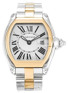 Cartier CARTIER ROADSTER W62026Y4 YELLOW GOLD AND STEEL LADIES WATCH