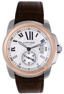 Cartier Cartier Calibre De Cartier 18K Rose Gold and Stainless Steel Men's Watch Ref W7100039