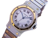 Cartier Cartier Santos Luxury Mid Ladies Swiss Auto 18k And Stainless Watch J773