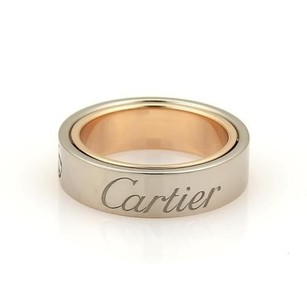 Cartier Cartier Secret Love 18k Rose White Gold 5.5mm Band Ring Eu 52-us