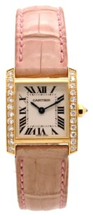 Cartier Cartier Tank Francaise WE104531 18kt Yellow GOLD Diamond Bezel Ladies Watch