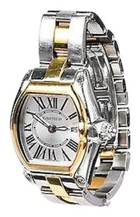 Cartier Cartier 18k Yellow Gold Silver Stainless Steel Roadster Watch
