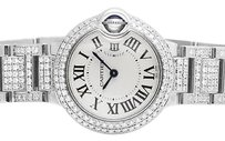 Cartier Ladies 29mm Cartier Ballon Bleu W69010z4 Automatic Diamond Watch Ct