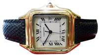 Cartier Mens Cartier Panther Panthere Solid 18k Yellow Gold Roman Numeral Watch
