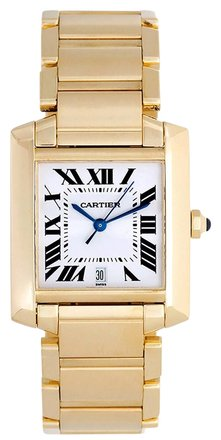 Cartier Cartier Tank Francaise 18K Yellow Gold Automatic Ladies Watch Ref W50001R2