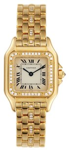Cartier Cartier Panthere 18K Yellow Gold Custom Diamond Bezel & strap Ladies Watch