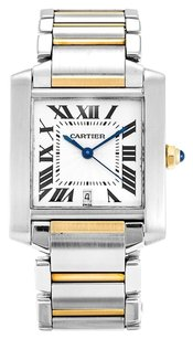 Cartier TANK FRANCAISE W51005Q4 STEEL AND YELLOW GOLD MEN'S WATCH