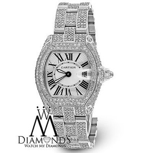 Cartier Ladies Diamond Cartier Roadster W62016v3 Stainless Steel Watch