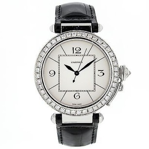 Cartier Men's Cartier Pasha 42mm W3107255 Stainless Steel Automatic Watch Custom Diamond Bezel Box & Papers CRTSP35