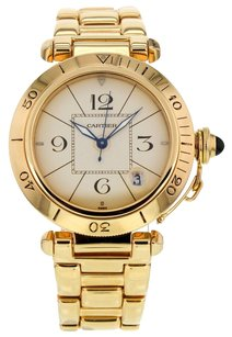 Cartier Men's Pasha 38mm 1991 18K Yellow Gold Automatic Watch CRTPSY5