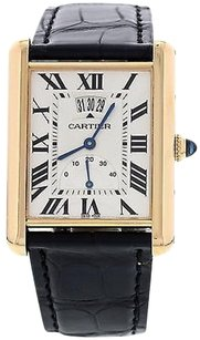 Cartier Mens Cartier Tank Louis Power Reserve 18k Rose Gold Watch 3185