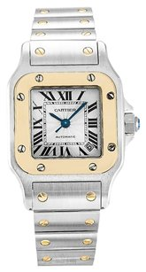 Cartier CARTIER SANTOS W20057C4 YELLOW GOLD AND STEEL LADIES WATCH