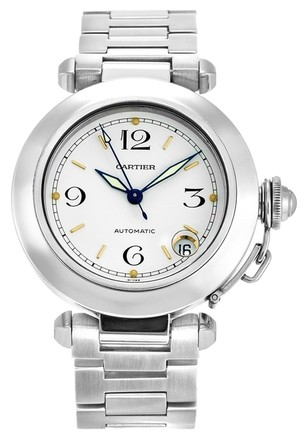 Preload https://item3.tradesy.com/images/cartier-silver-pasha-w31015m7-stainless-steel-ladies-watch-6190687-0-0.jpg?width=440&height=440