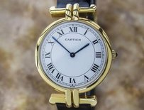 Cartier Very Luxurious 18k Solid Gold Cartier 30mm Mid Watch Circa 1990 D1