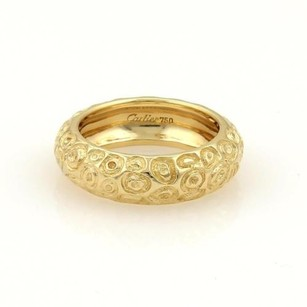 Cartier Vintage Cartier 18k Yellow Gold Fancy Textured Dome Band Ring 5.25