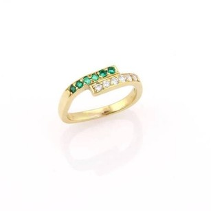 Cartier Vintage Cartier 18kt Yellow Gold Diamond Emerald Wrap Style Ring