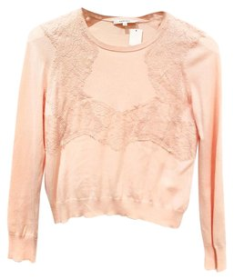 Carven Lace Trim Light Long Sleeves Sweater