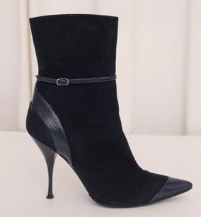 Casadei Womens Suede Navy Boots