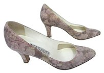 Casadei Fabric Leather Floral Pinks Pumps