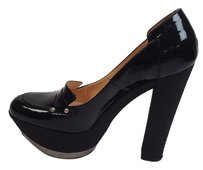 Casadei Patent Leather Platform Black Pumps