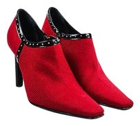 Casadei Black Gold Tone Red Boots