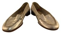 Casadei Womens Leather Metallic Casual Silver Flats