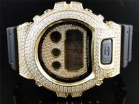 Casio Mens G Shock G-shock Yellow Gold Finish With Clear Simulated Diamond 6900 Watch