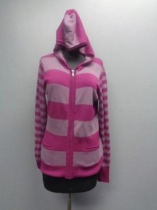 Caslon Long Sleeved Striped Hooded Sma5322 Sweater
