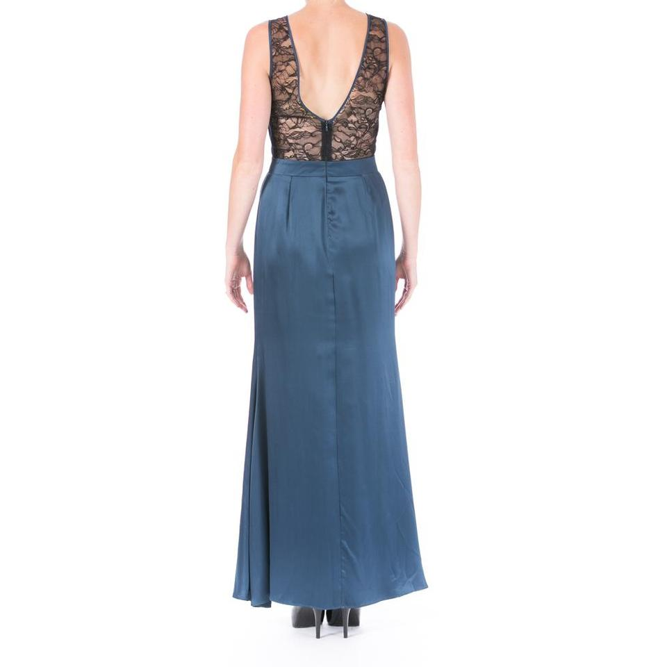 Catherine Malandrino Blue One Of A Kind Designer Long Formal Dress ...