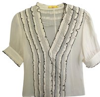 Catherine Malandrino Top Black & Cream