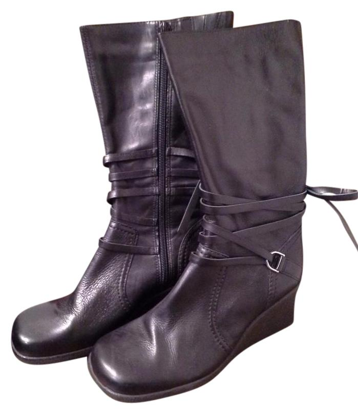 cathy jean quot brazil quot black leather boots on sale 41