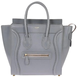Cline Celine Micro Luggage Tote in Grey