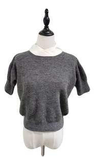 Cline Cropped Knit Silk Night Out Sweater
