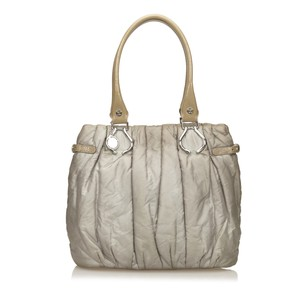 Céline Fabric Gray Leather Shoulder Bag