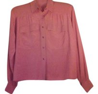 Céline Pocket Button Down Italy Top Coral