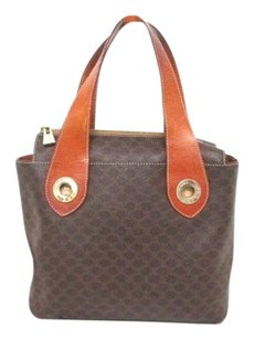 Céline Macadam Tote Handbag Wallet Satchel in Brown