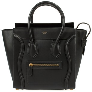 Céline Smooth Leather Classic Calfskin Tote in Black