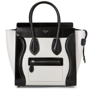 Cline Tote in black and white