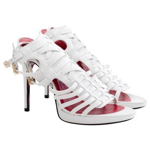 Cesare Paciotti white leather Sandals