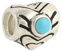 Chamilia Chamilia Bead Charm Sterling Silver I-48 Heart December Birthstone Turquoise