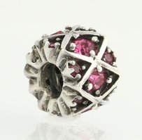 Chamilia Chamilia Bead Charm - Sterling Silver Shimmering Stones - Pink Jb-36d